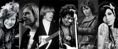 Le Club 27: Joplin, Kobain, Jones, Hendrix, Morrison, Winehouse