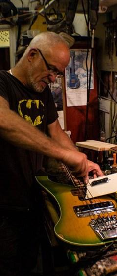 Philippe Dubreuille dans son atelier