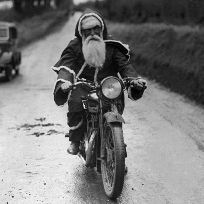 Santa Claus Biker