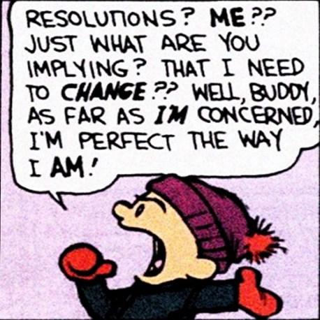 Calvin et Hobes Bill Watterson Résolutions