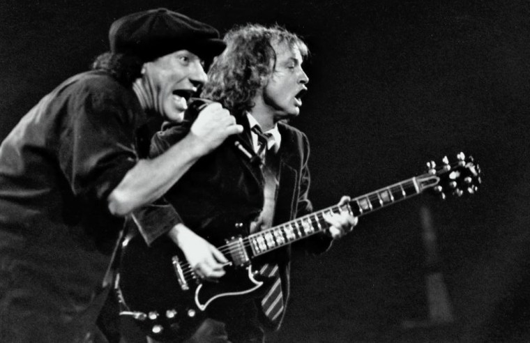 ACDC Brian Johson et Angus Young