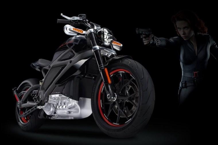 Harley Davidson LiveWire & Scarlett Johansson