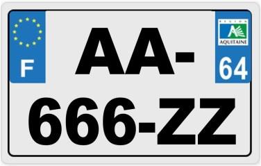 Plaque Immat Moto Grand Format