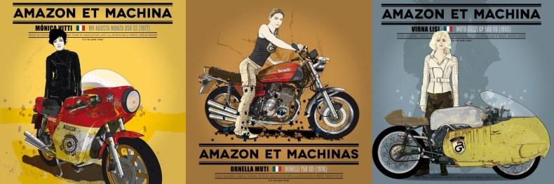 Amazon y Maquina: Motos et Actrices
