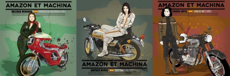 Amazon y Maquina, Motos et Actrices