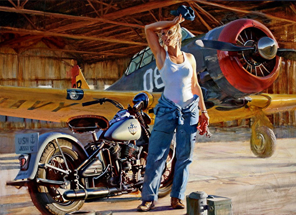 David Uhl Harley Davidson Pin-Up