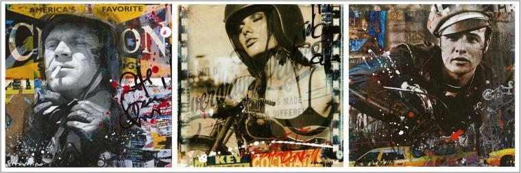 Fabien Novarino: Bike girl, Marlo & Steve