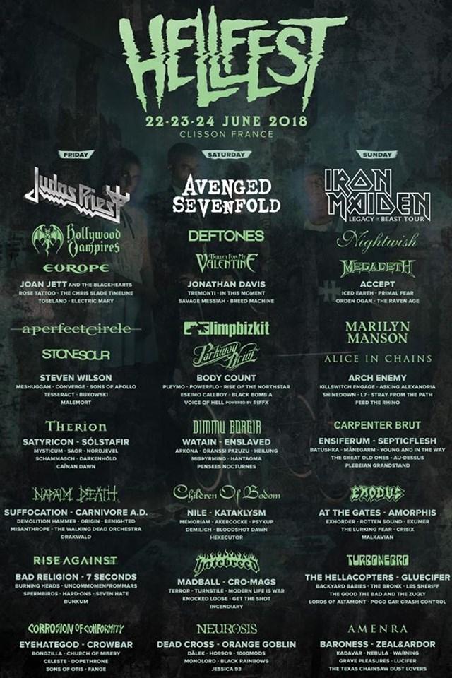 Programme Hellfest 2018