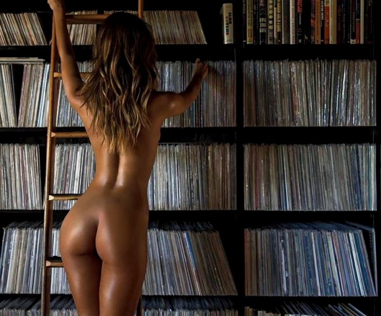 Bibliothèque vinyles 33 tours