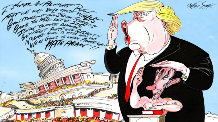 Donald Trump by Gerald Scarfe