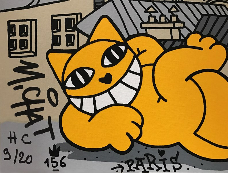 Street Art Thoma Vuille: M.Chat