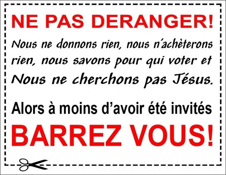 Sticker: Ne pas déranger