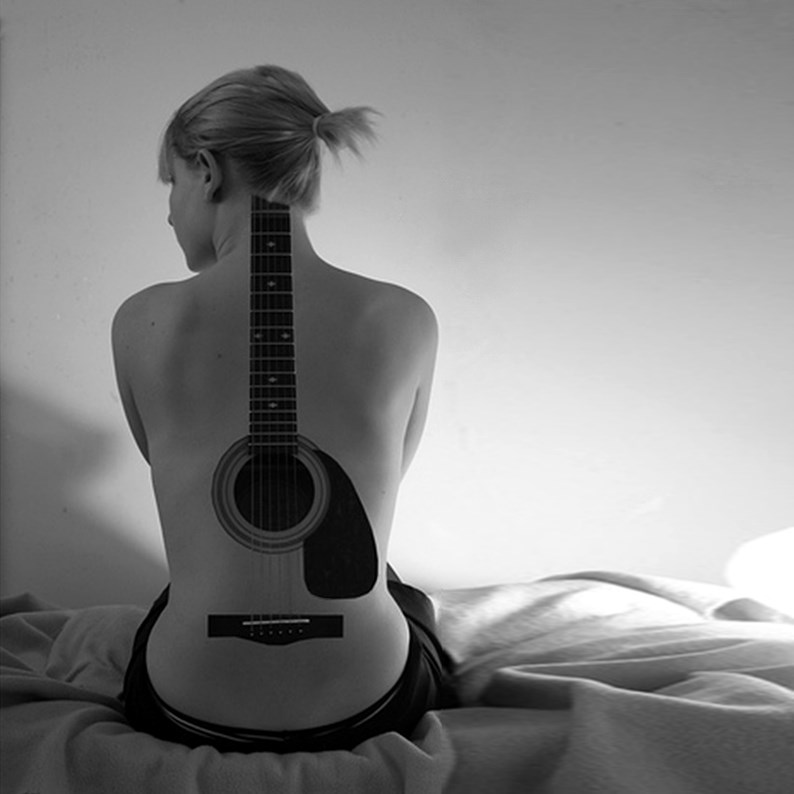 Inked Girl Guitar