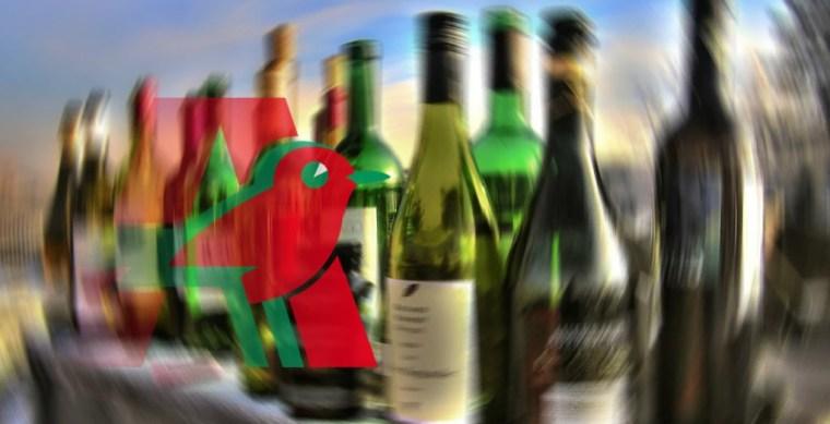 Auchan Pau, auto-confiné dans le rayon alcools